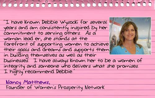 Debbie's Testimonials
